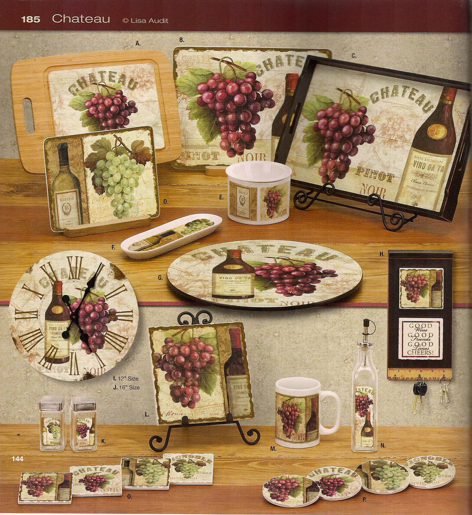 WINE GRAPE KITCHEN DECOR - KITCHEN DECOR - ANTIQUE HOME ...