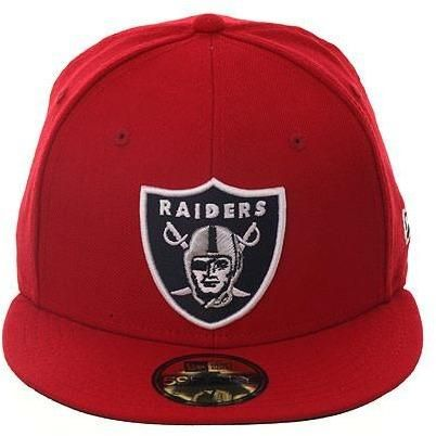buy popular d455e 87db1 Exclusive New Era 59fifty Oakland Raiders Fitted Hat - Red, Black,   37.99
