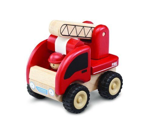 Wonderworld Mini Fire Engine by Wonderworld. $11.09. From the Manufacturer                The Wonderworld Mini Fire Engine Wooden Vehicle is a product that is unique in design because it is just the perfect size for little hands and is not easily found in any toy shop. TheWonderworld Mini Fire Engine Wooden Vehicle comes equipped with a fire fighter and a ladder that moves up and down. The Wonderworld Mini Fire Engine Wooden Vehicle will be one of your child's favorite to...