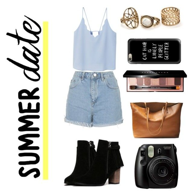 """""""Summer Date"""" by bellmegan on Polyvore featuring Topshop, MANGO, Casetify and Bobbi Brown Cosmetics"""