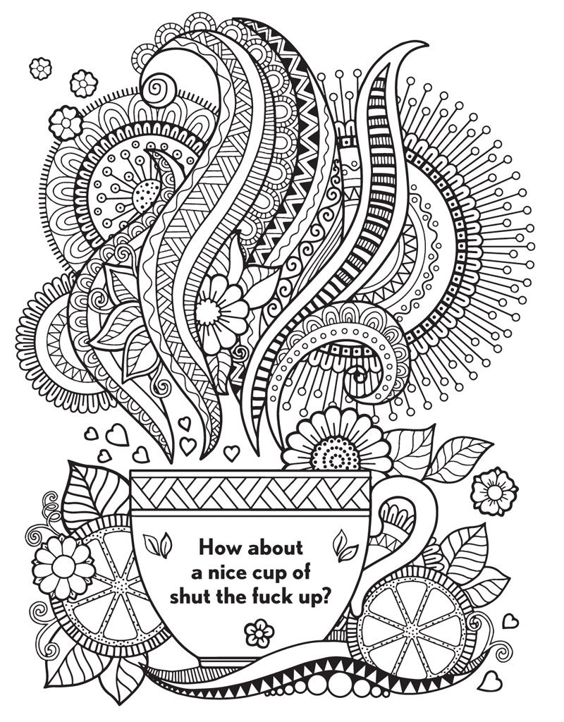 Adult Sayings Coloring Pages