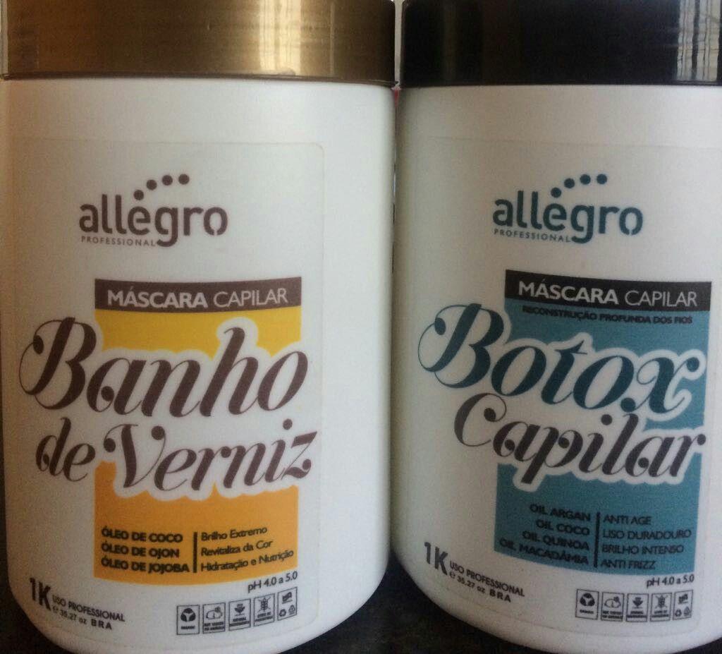 Banho De Verniz Allegro Professional I 1kg Botox Capilar Allegro