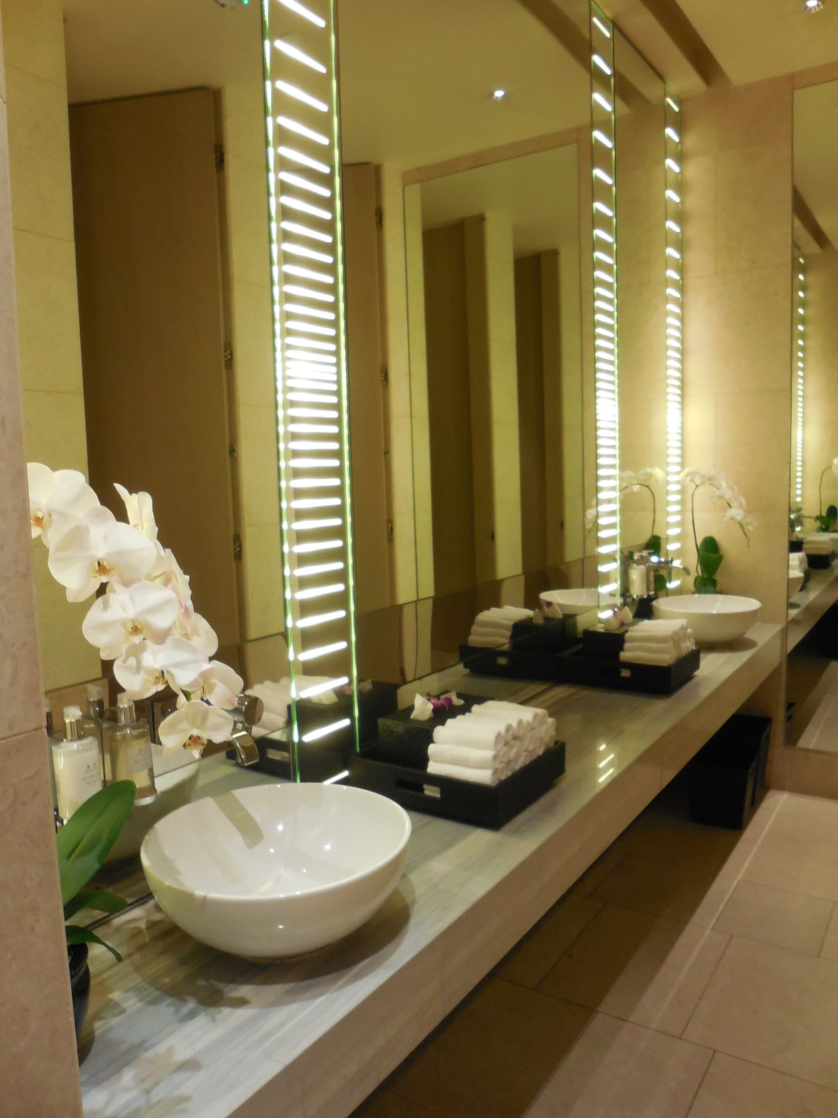 Bathrooms Decor Orchids In The Rest Room Make A Difference