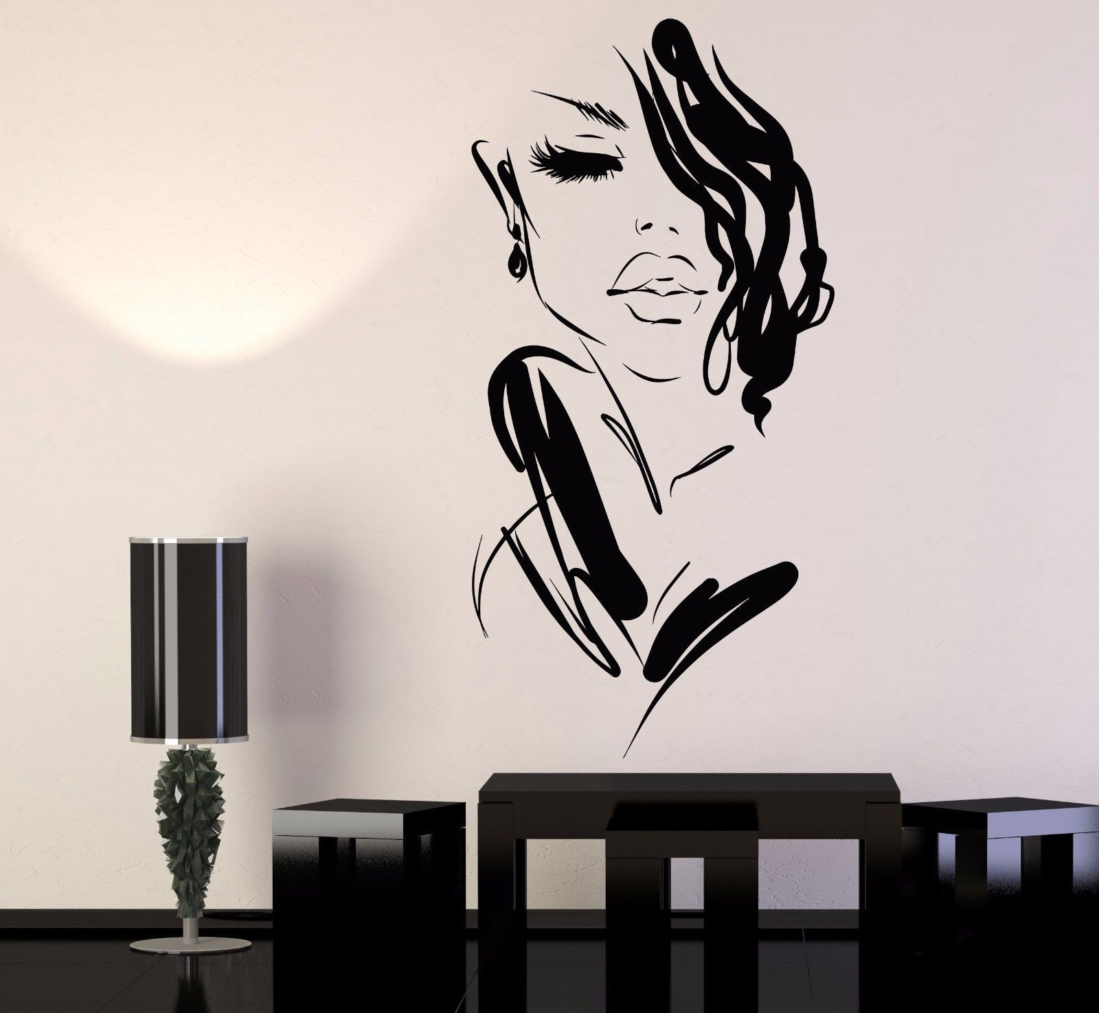 Wild woman´s face - Wall stickers - Wall Art - Viart