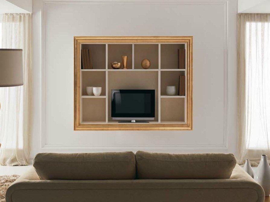 Cortezari mobili ~ Mobile tv in legno con libreria zoe collezione zoe by cortezari