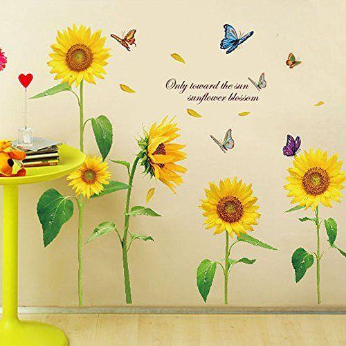 $15.99 - EverTrustTM Sunshine Sunflower Butterfly Dancing in Summer ...