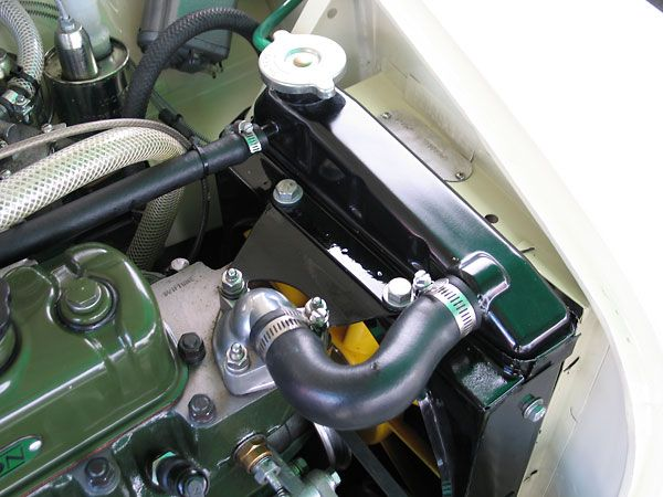 Stock Style Copper And Brass Downflow Radiator And Engine Driven