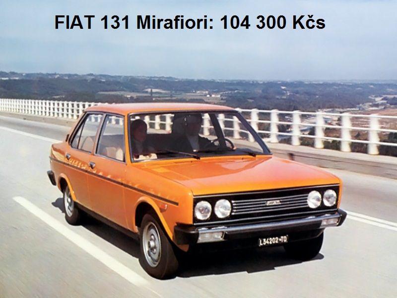Ceník Mototechny z roku 1978 co stály Škody, Fiaty