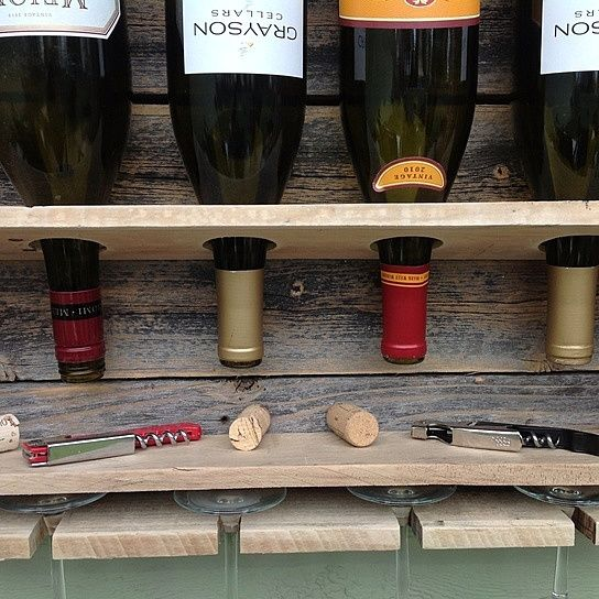 Simplistic - reclaimed wine rack - small from (del)HutsonDesigns.