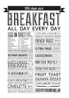 Breakfast Menu Design Ideas