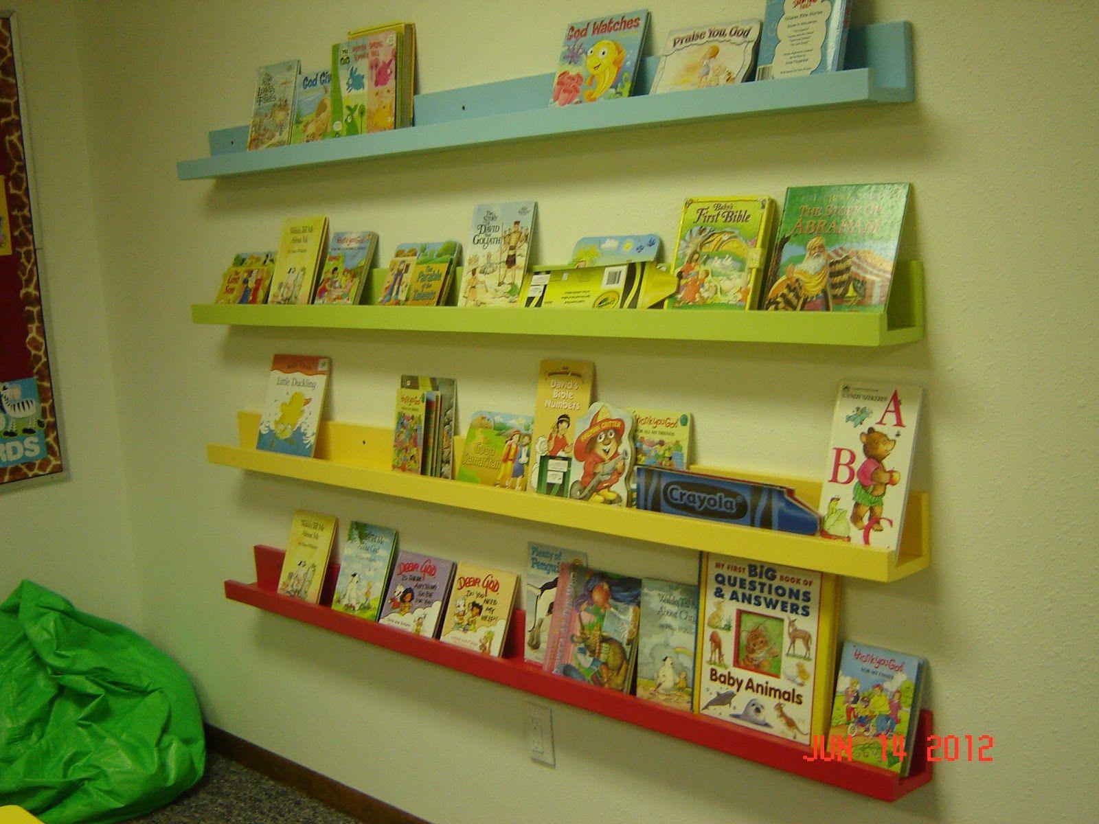 wall bookshelf | Church nursery ideas | Pinterest | Church nursery ...