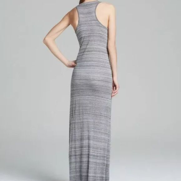 "Vince maxi dress LAST CHANCE FINAL PRICE.. LAST DAY..NWT $175 Authentic! Large 19"" armpit to armpit (laying flat, unstretched) 62"" shoulder to hemline Sleeveless Racerback Lightweight striped blue and grey  100% viscose PayPal accepted and love trading. Vince Dresses Maxi"