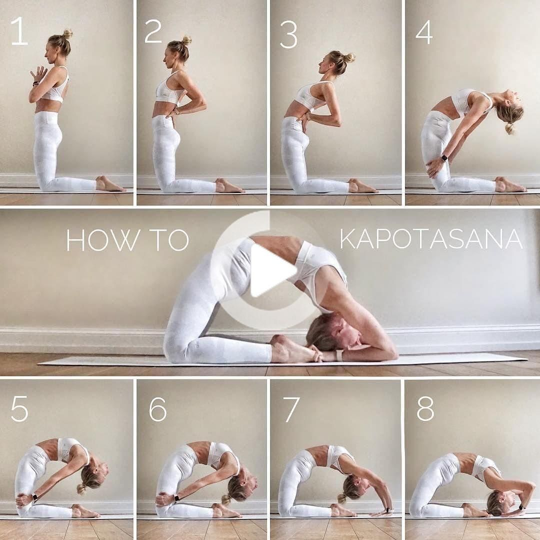Alo Yoga Goals On Instagram How To Kapotasana This Pose Has Always Easy Yoga Poses Yoga For Flexibility Kapotasana