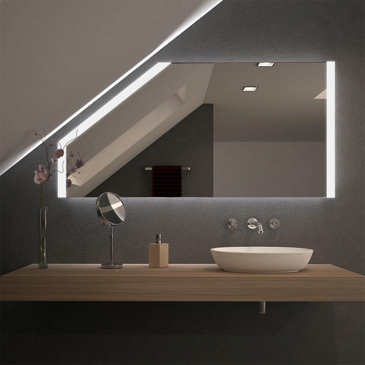 Spiegel Fur Dachschragen Mit Led Beleuchtung Singu Badezimmer Dachschrage Led Beleuchtung Beleuchtung Dachschrage