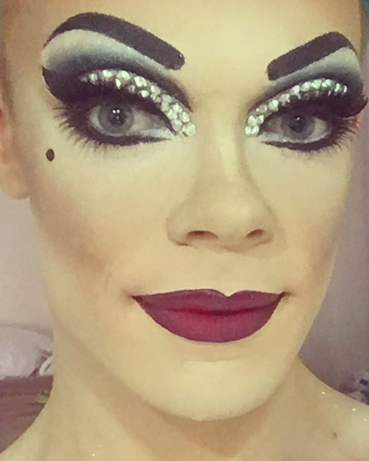 """""""Classic"""" Drag makeup I did for the 2016 Sydney Mardi Gras!"""