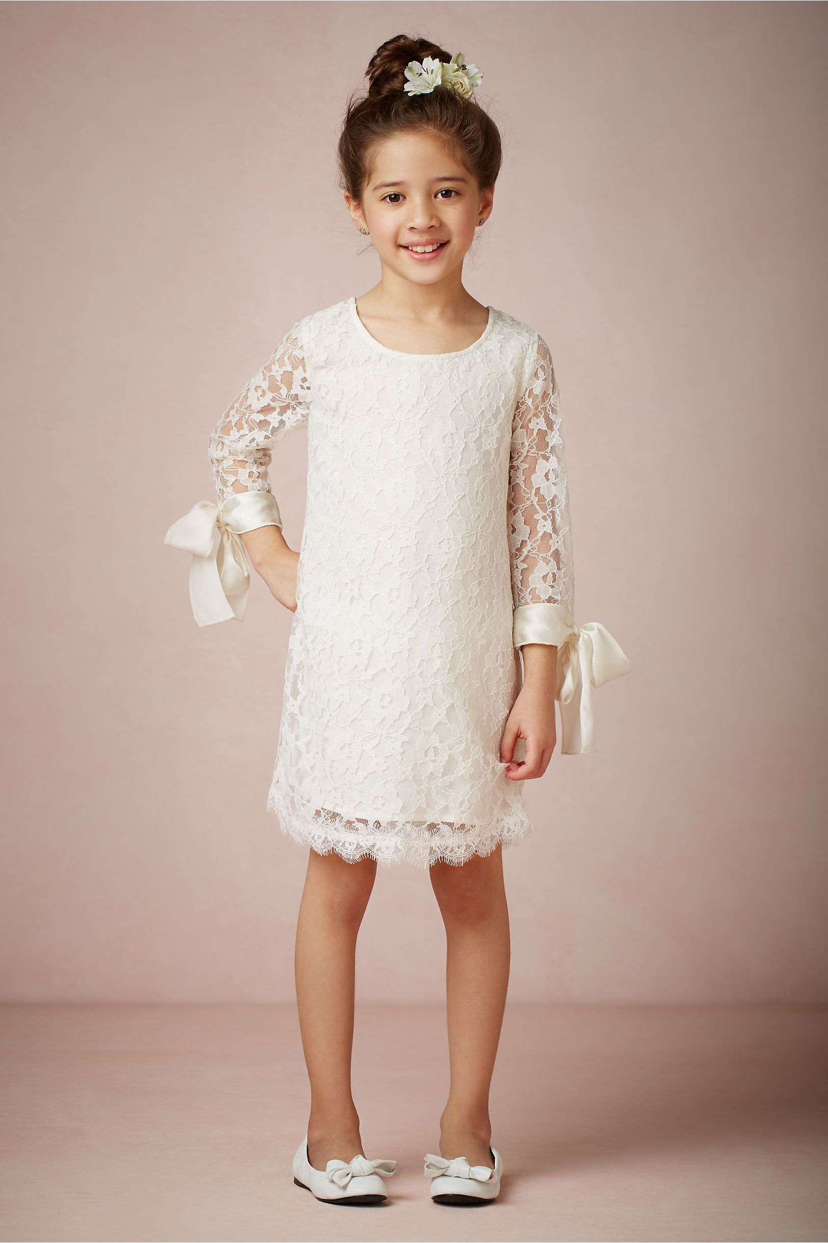 Lyla Dress from BHLDN - Absolutely adorable! The ribbons are so much ...