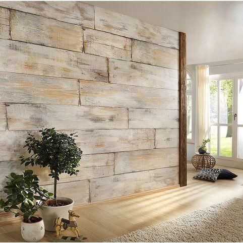 papier peint mural d coratif motif planches de bois planches bois poster geant et planches. Black Bedroom Furniture Sets. Home Design Ideas