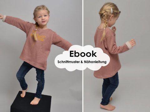 Lounge-Sweater-Girls / Schnittmuster und Nähanleitung ...