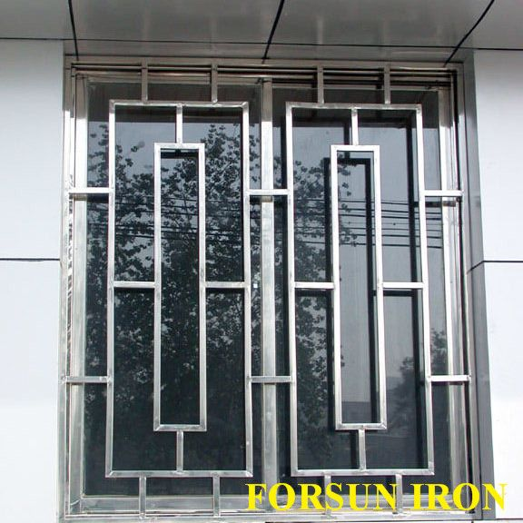 New simple iron window grill design buy steel window for Iron window design house