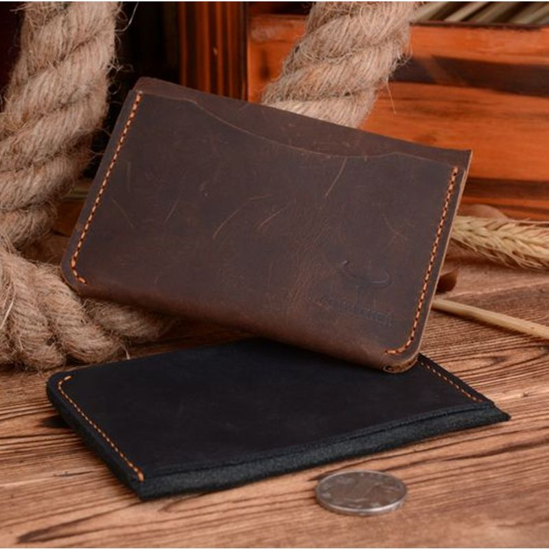 Cowathers crazy horse leather luxury credit card holder