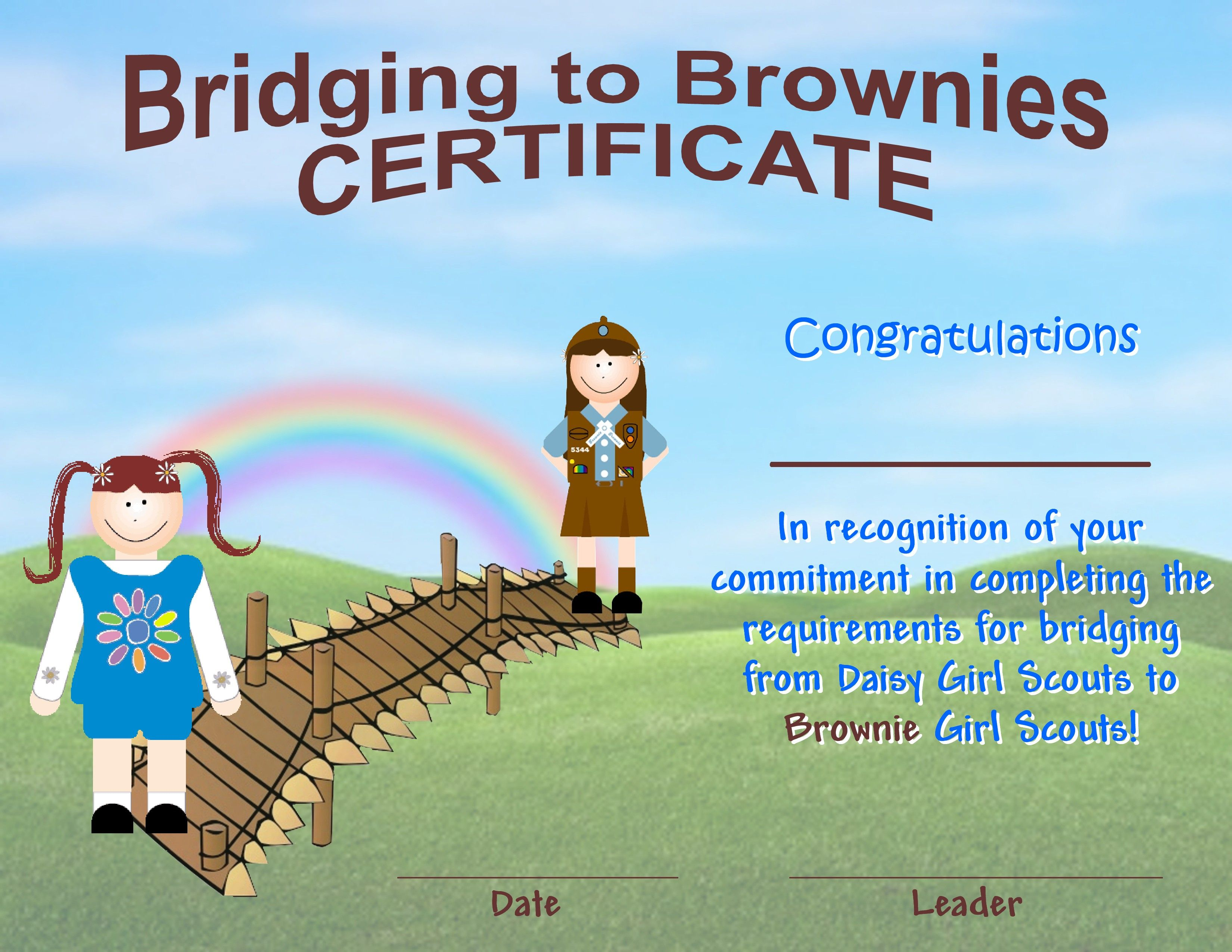 Girl Scout Brownie Certificate Printable Architecture Modern Idea
