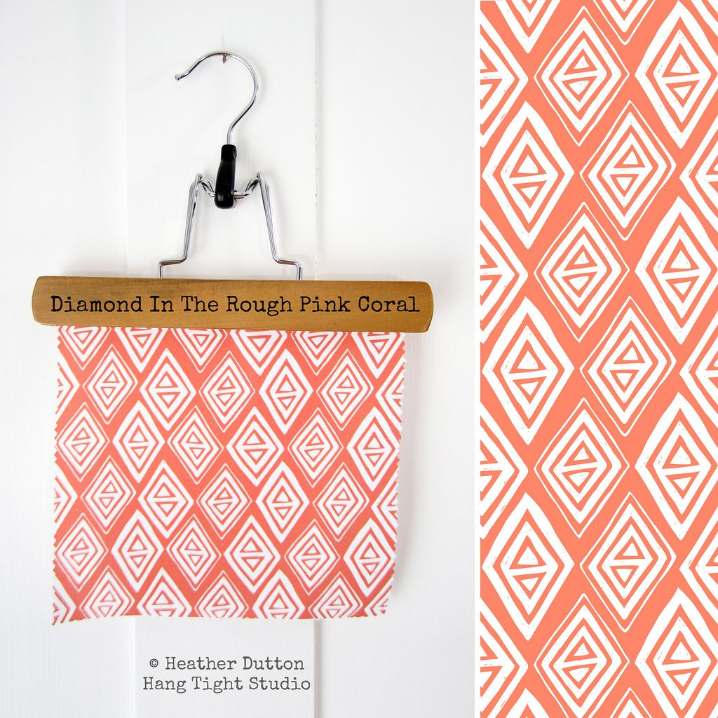 My new Diamond In The Rough  © Heather Dutton | Hang Tight Studio #spoonflower