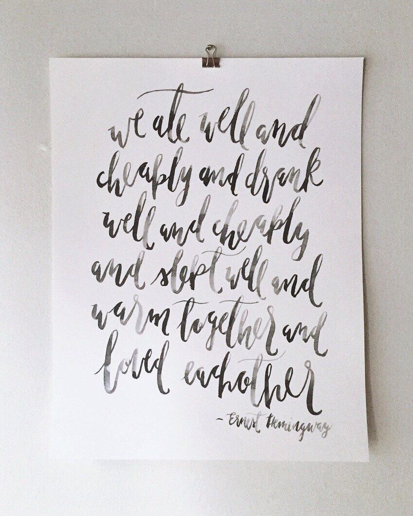 Watercolor painting, watercolor print, wall art, art print, Ernest Hemingway quote by earthandfleur on Etsy https://www.etsy.com/listing/247317266/watercolor-painting-watercolor-print