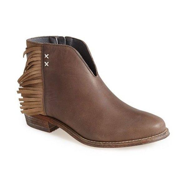 832185db042 Women's Koolaburra 'Dallas' Fringed Leather Bootie ($115) ❤ liked ...