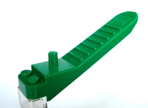 LIME GREEN  LEGO BLOCK TILE  SILVER EARRINGS 1 x 4  IN GIFT BOX