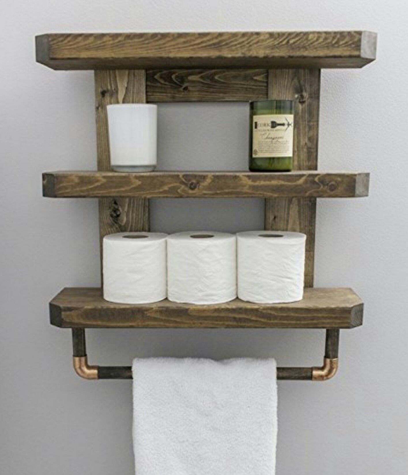 Pin By Bwatters771 On Diy In 2020 Wooden Bathroom Shelves
