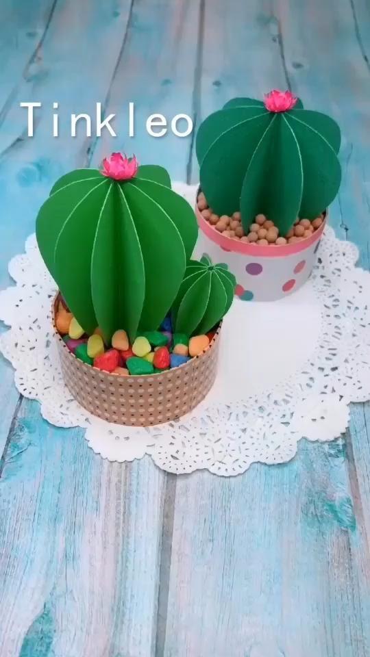 DIY Paper Cactus Decoration