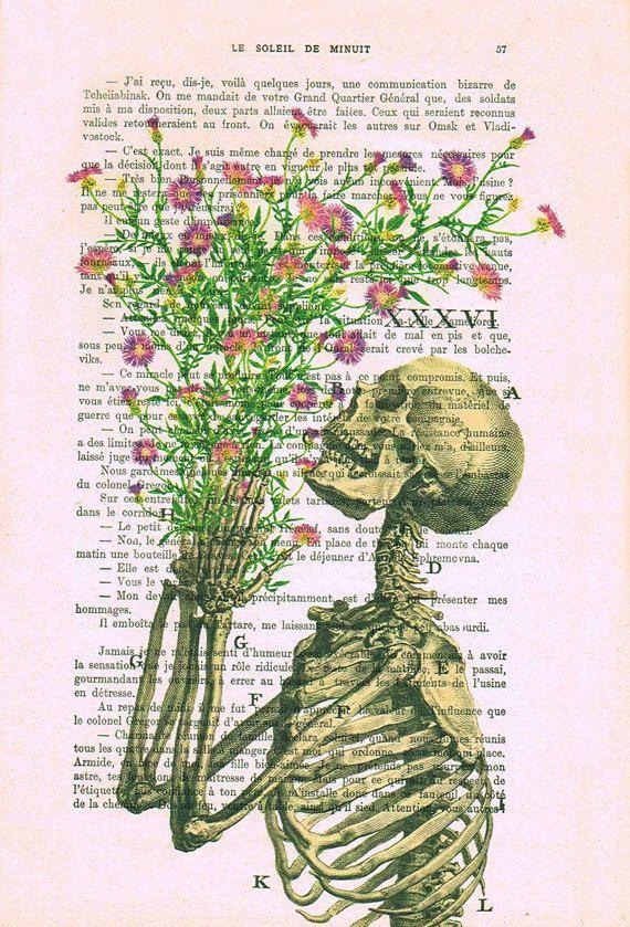 Estampado de flores de esquelética en la página de por NotMuchToSay