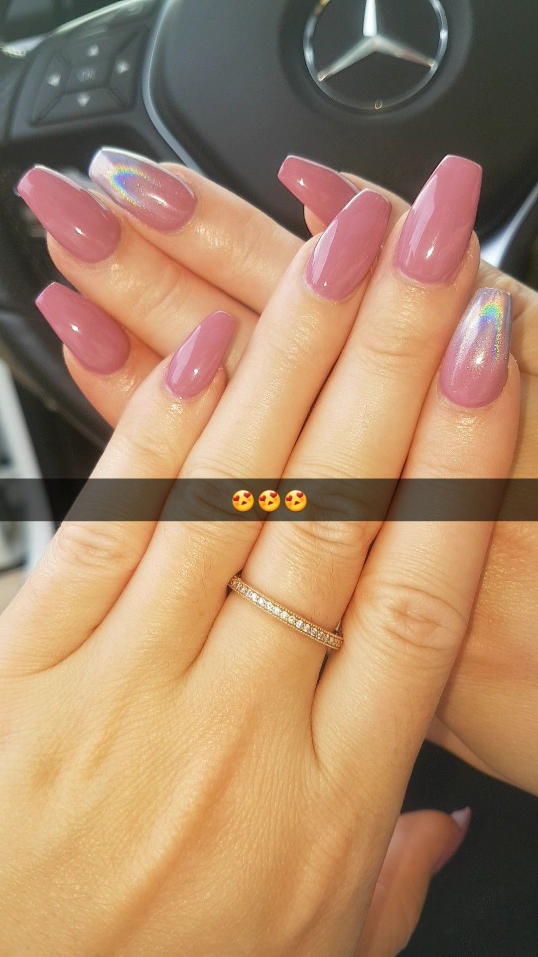 Bio seaweed warm kiss holographic accent nails nails pinterest