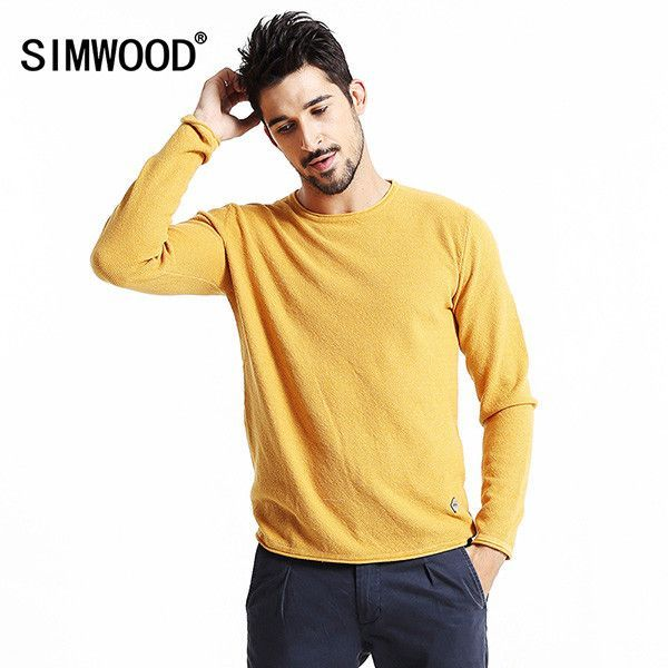 SIMWOOD Brand New Autumn Winter Casual Sweater Men hiFason long Sleeve pullovers