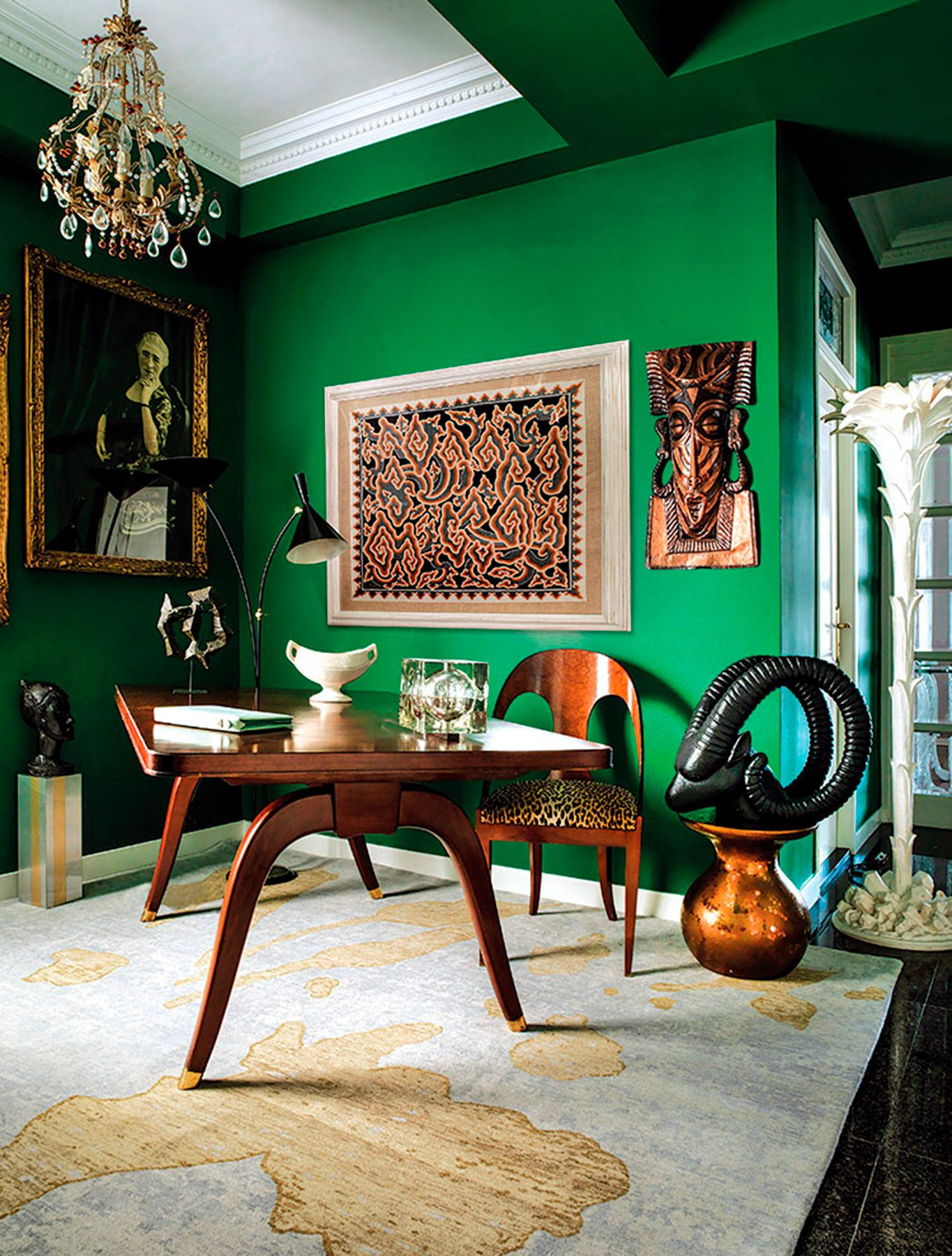 emerald green paint color home office paint colors on green office paint color id=57992