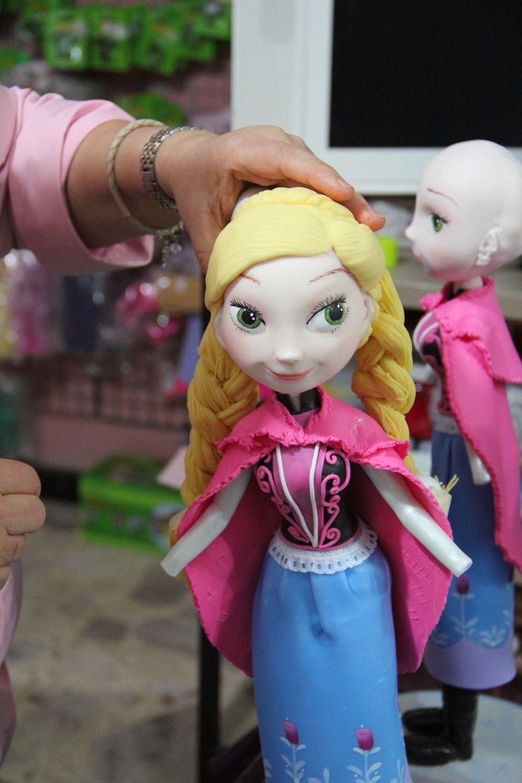 Construcción de las muñeca Frozen | Porcelana fría ...