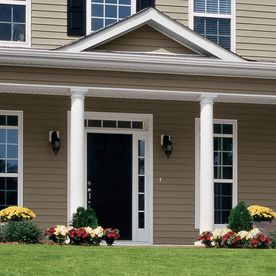 Georgia Pacific Vision Pro Vinyl Siding Panel Double 4 Traditional Clay 8 In