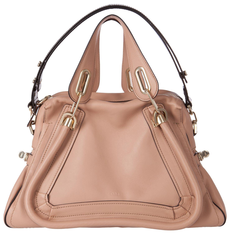 New Chloé Bags: Edle Tote Bag in Altrosa, Schwarz von Chloé