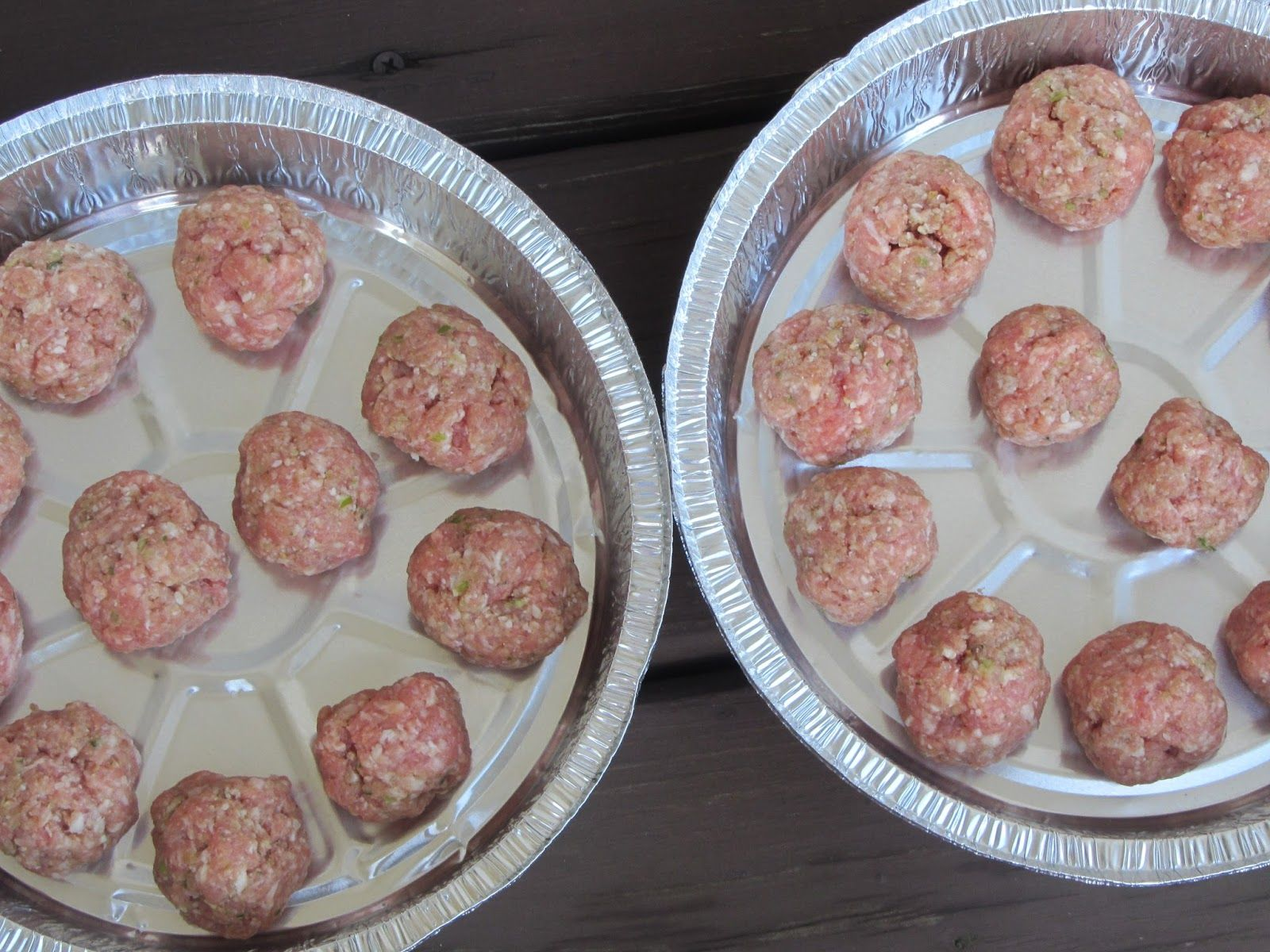 Day #3 Ground pork pesto meatballs. Freeze beautifully, make for a great main dish or divide into smaller portions to use in lunches throughout the week.