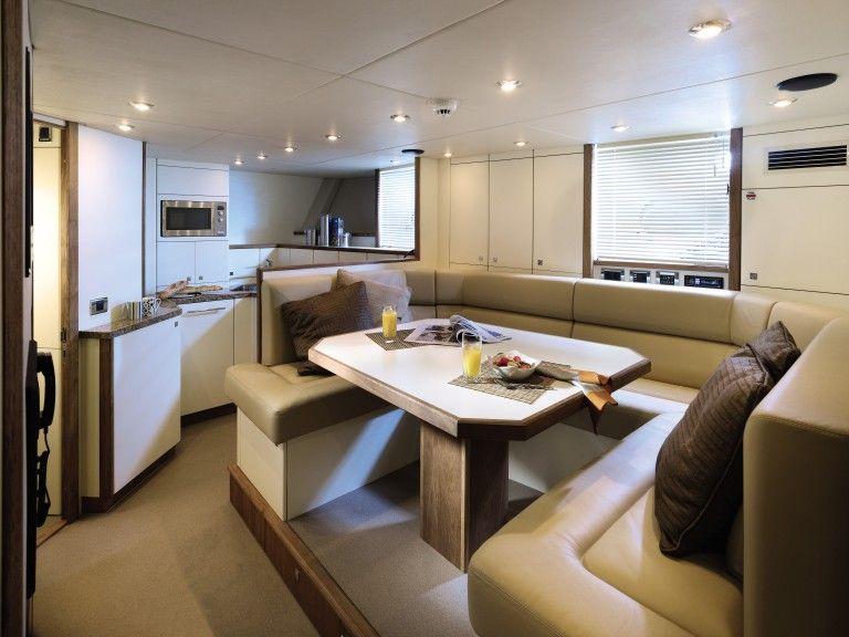 breakfast area on 130 sport yacht - Boat Interior Design Ideas