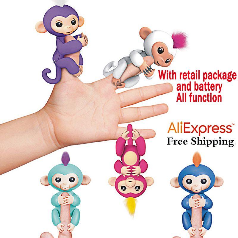 Fingerlings Interaktive Baby Affen Smart Bunte FingersLlings Smart ...