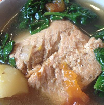 The Happy Home Cook: Pesang Salmon: Filipino Fish Stew in Ginger Broth with Tomatoes and Spinach — Positively Filipino | Online Magazine for Filipinos in the Diaspora