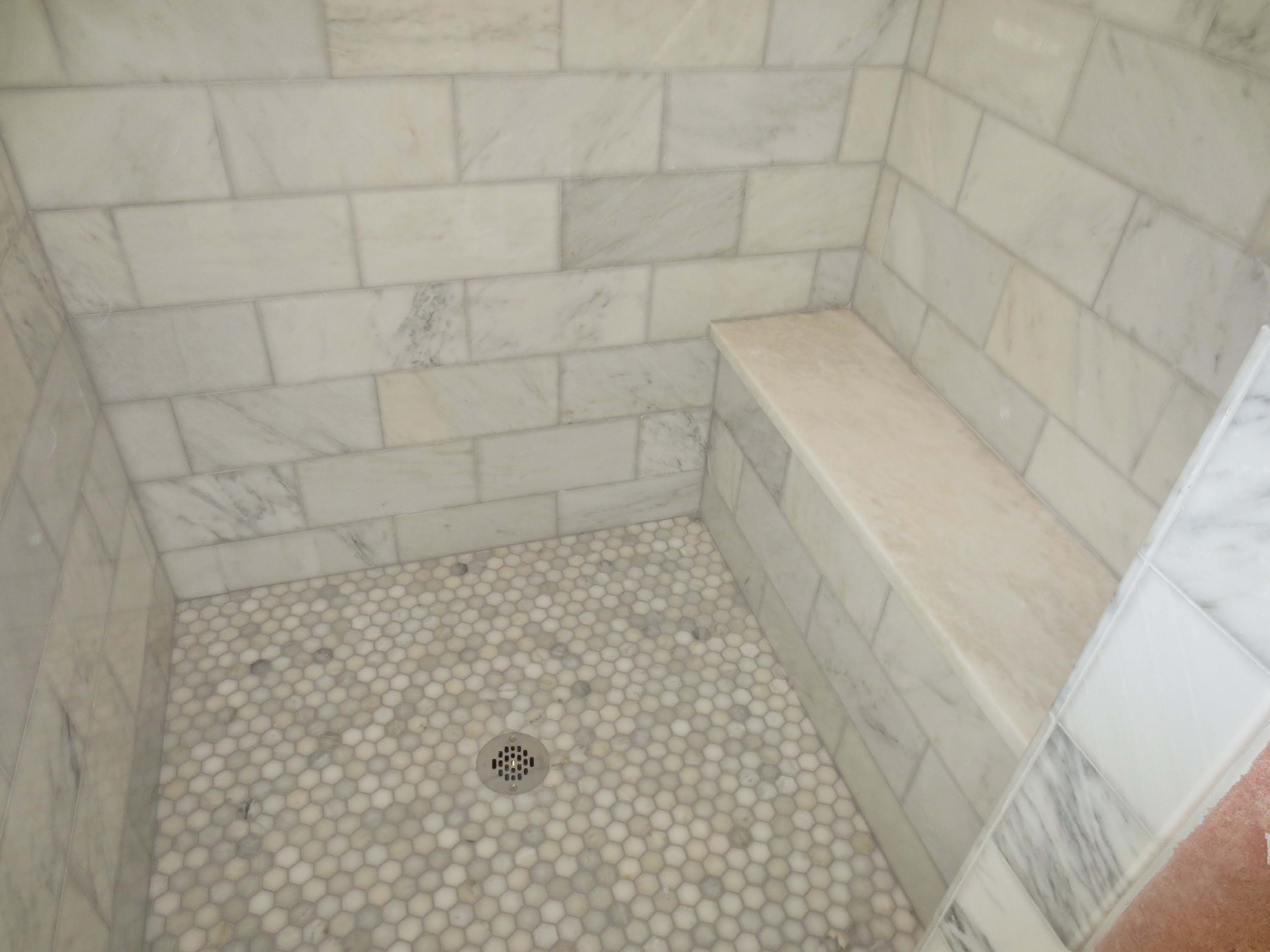 High Quality Marble Master Bathroom Time Lapse Of The Installation Of A Shower Stall And  Bathroom Floor On