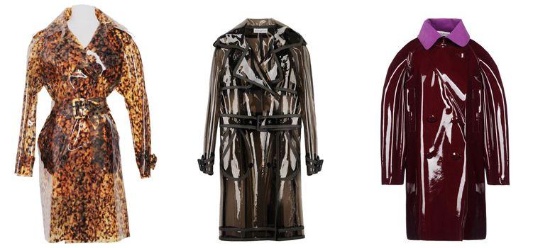 PVC vinyl trench coats
