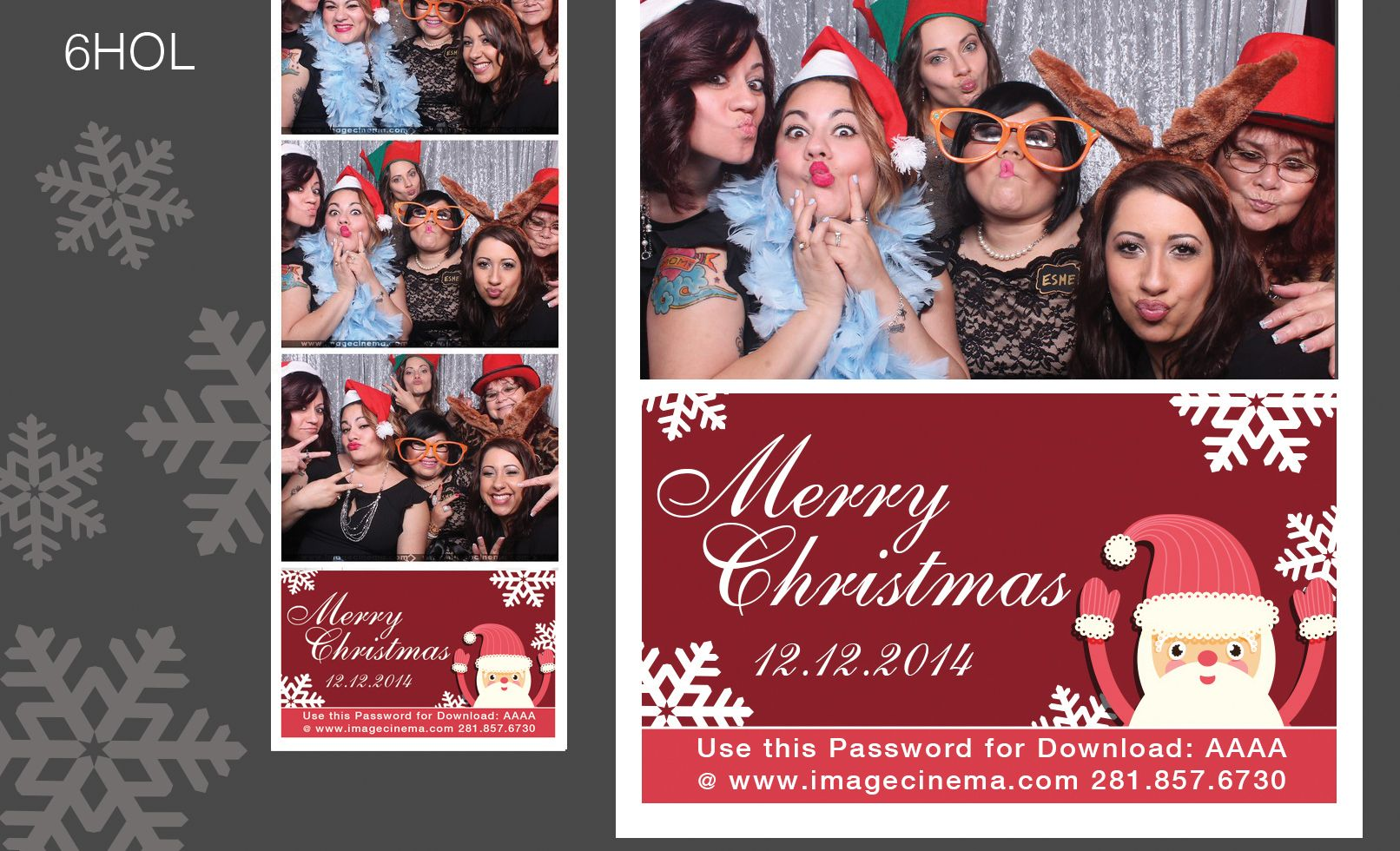 6HOL Merry Christmas from Santa and you! #photobooth  imagecinema.com