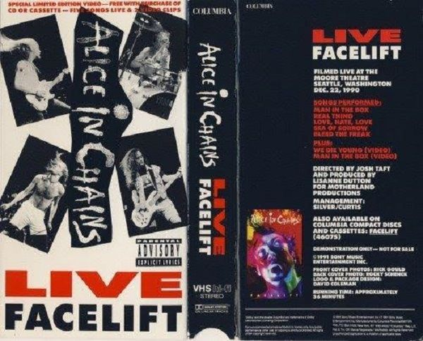 Alice In Chains Facelift Live At The Moore Vhs Box I Still Have