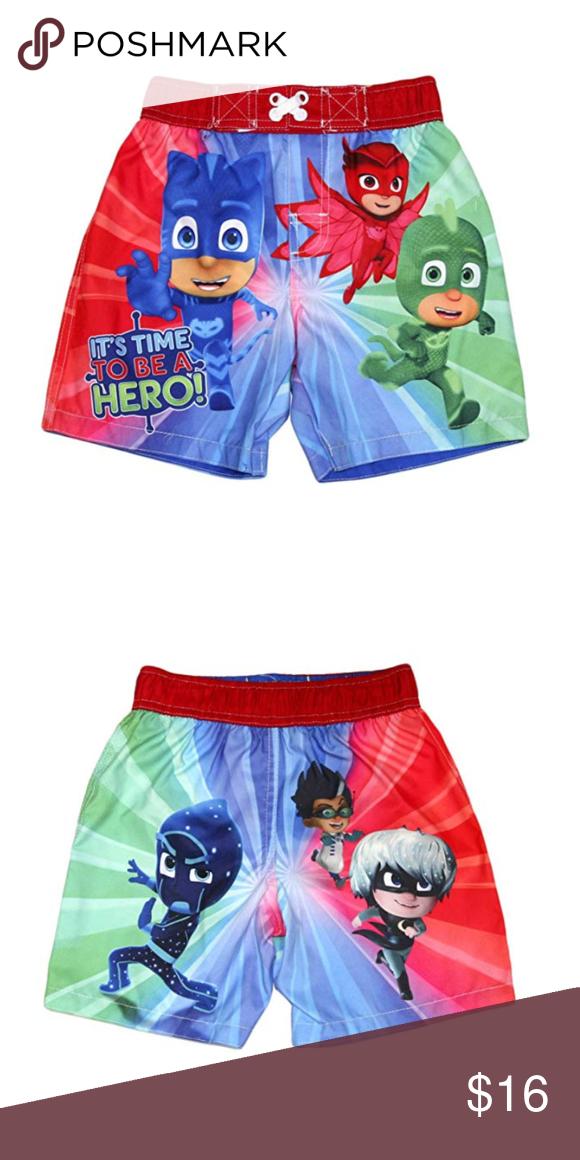e7bab694af PJ Masks Toddler Boy Swim Trunks Swimwear Shorts PRODUCT FEATURES Elastic  waistband Mesh lining PJ Masks