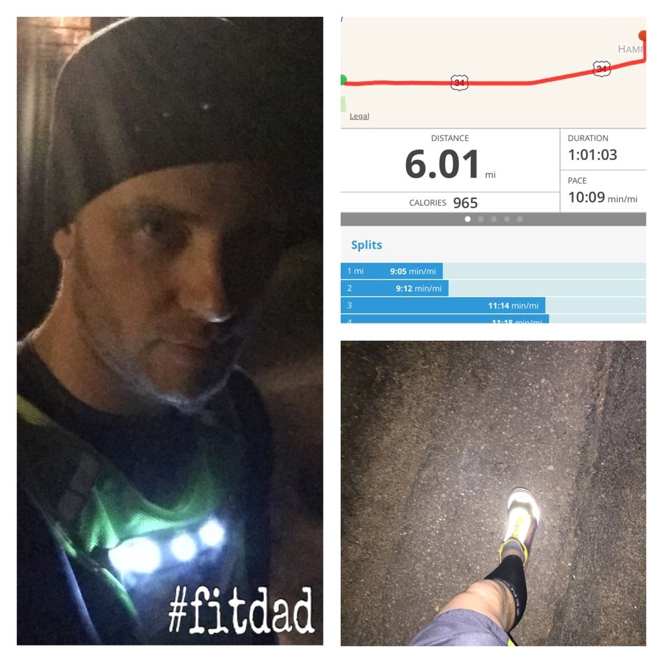 I really wasn't planning a long night run but I got 6 miles in tonight.  I think it's my longest run of 2016 so far!  Legs felt good but they are tired. #fitdad #beachbodycoach #runner #run #runhappy #altra #altrarunning #smile #selfie #miles #halfmarathontraining #marathontraining #nightpatrol