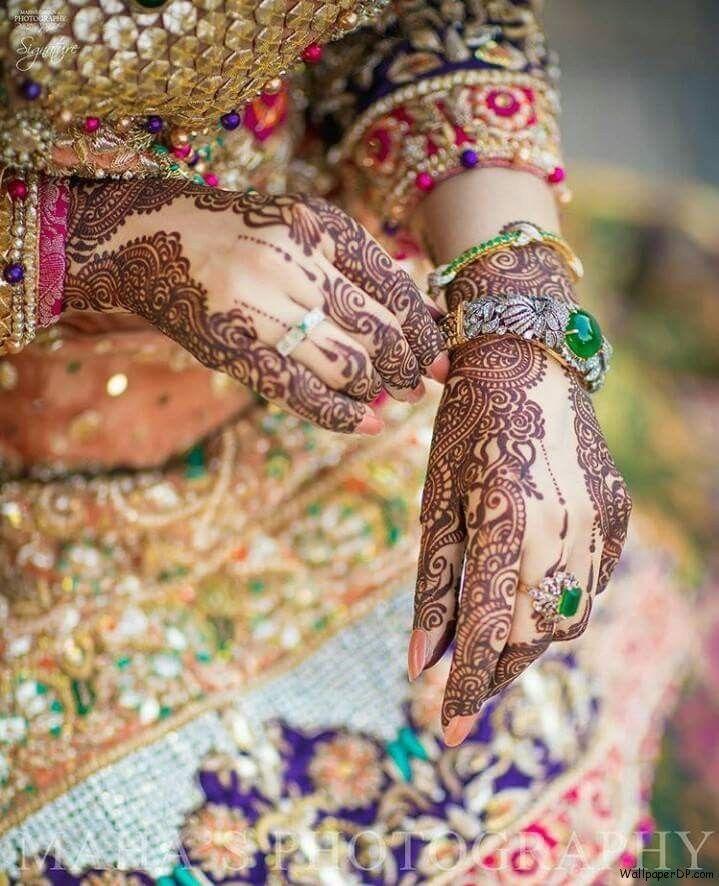 Image For Best Dulhan Dp Of Mehndi Hands For Girls Hd Wallpaper