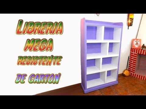 Download video diy estanter a hecha con cart n para - Manualidades con muebles ...